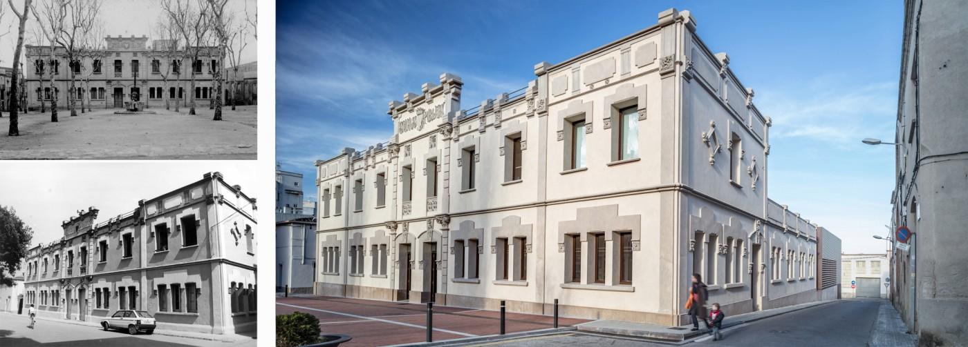 Edifici de les Antigues Escoles, Plaça Homenatge a la Vellesa